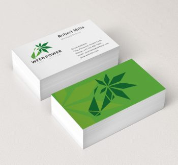 Weed-Power-Business-Card-Mockup