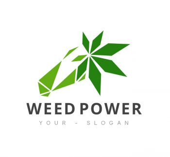 Weed Power Logo & Business Card Template