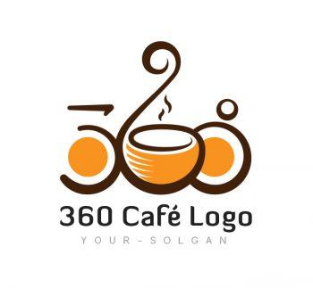 360 Cafe Logo & Business Card Template