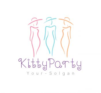Ladies Kitty Party Logo & Business Card Template