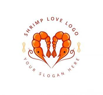 Shrimp Logo & Business Card Template