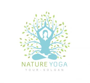 Nature Yoga Logo & Business Card Template