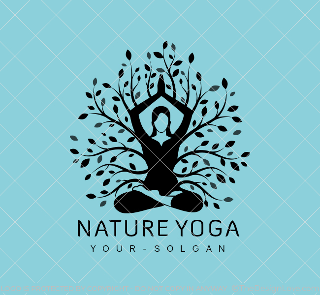 Nature-Yoga-Stock-Logo