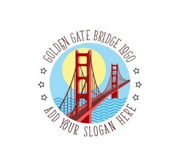 Golden Gate Bridge Logo & Business Card Template