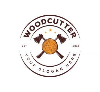 Woodcutter Logo & Business Card Template