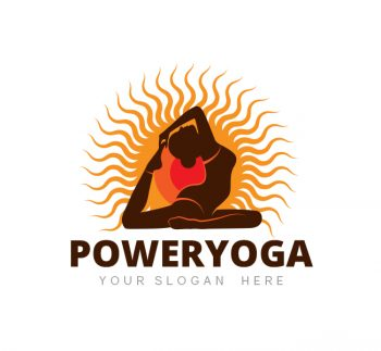 Power Yoga Logo & Business Card Template