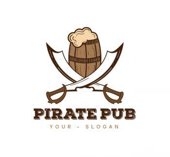 Pirate Pub Logo & Business Card Template