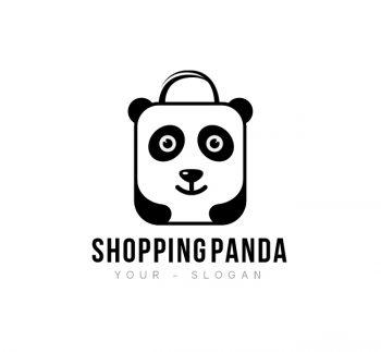 Shopping Panda Logo & Business Card Template