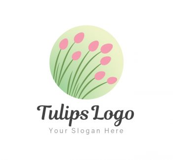 Tulips Logo & Business Card Template