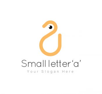 Small Letter 'a' Logo & Business Card