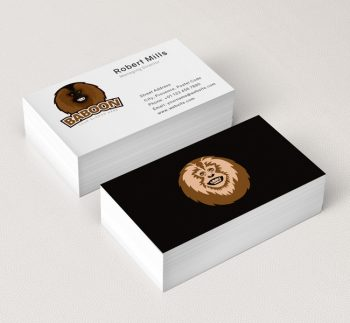 Baboon-Logo-Business-Card-Mockup
