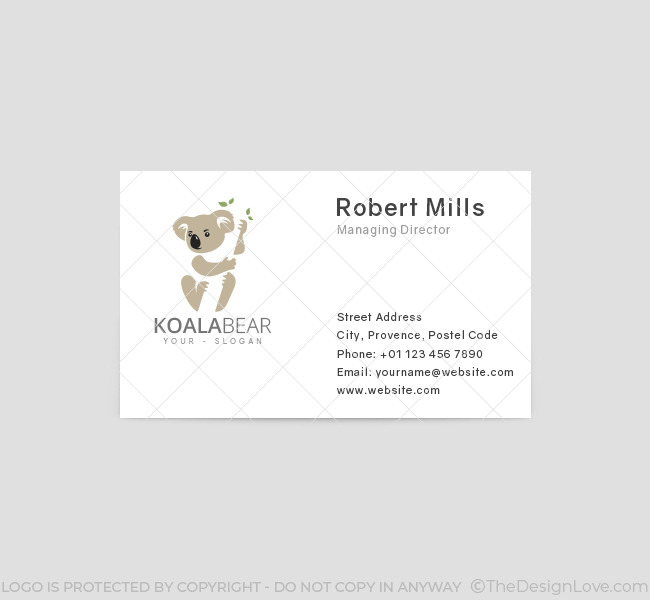 Koala-Logo-Business-Card-Front