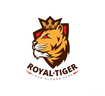 Crown Tiger Logo & Business Card Template