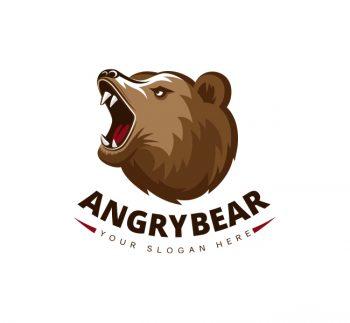 Angry Bear Logo & Business Card Template