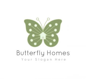 Butterfly Homes Real Estate Logo & Business Card