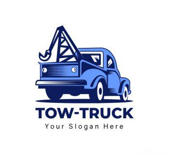 Tow Truck Logo & Business Card Template