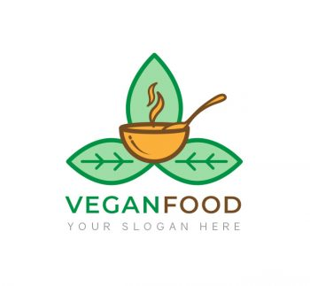 Vegan Food Logo & Business Card
