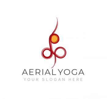 Simple Aerial Yoga Logo & Business Card
