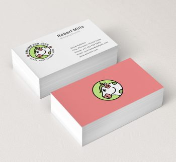 Organic-Cow-Business-Card-Mockup
