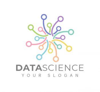 Minimal Data Science Logo & Business Card