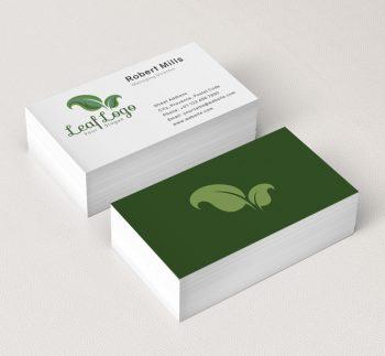Leaf-Business-Card-Mockup