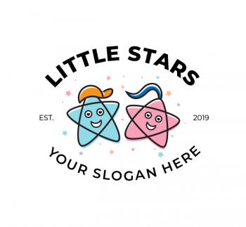 Little Stars Play School Logo & Business Card