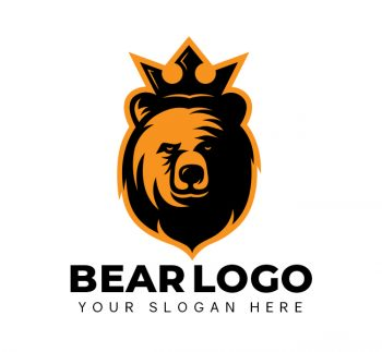 King Bear Logo & Business Card Template