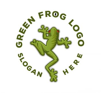 Green Frog Logo & Business Card
