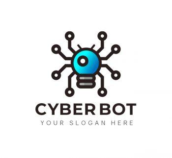 Cyber Bot Logo & Business Card