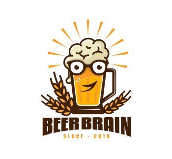 Brain Beer Logo & Business Card Template