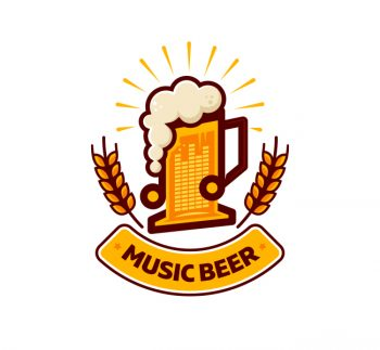 Music Beer Logo & Business Card Template