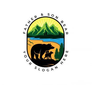 Illustrative Bear Logo & Business Card
