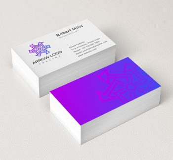 556-Abstract-Arrow-Business-Card-Mockup