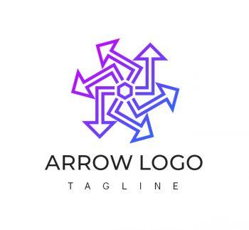 Abstract Arrow Logo & Business Card