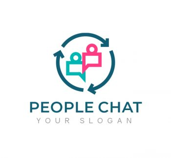 People Chat Logo & Business Card