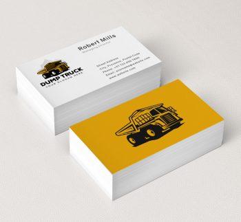 567-Illustrative-Dump-Truck-Business-Card-Mockup