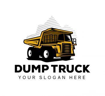 Illustrative Dump Truck Logo & Business Card