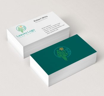 593-Green-Leaves-Business-Card-Mockup