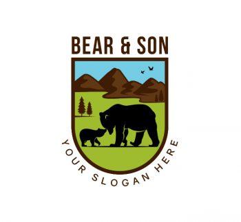 Bear & Cub Logo & Business Card
