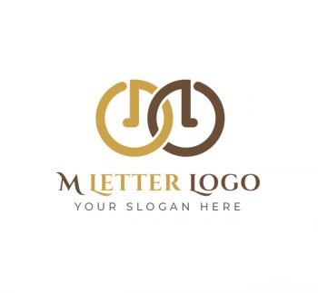 M Letter Logo & Business Card Template