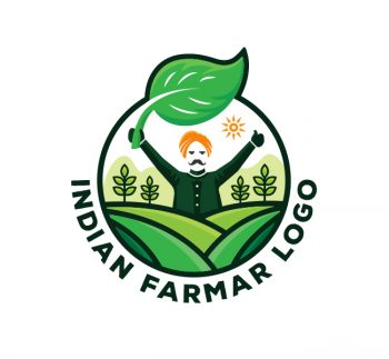 Indian Farmer Logo & Business Card