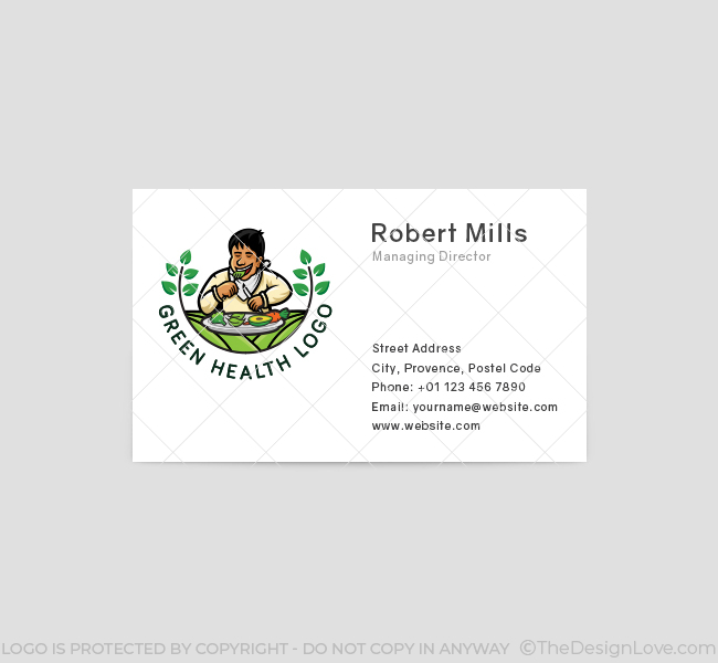592-Green-Health-Business-Card-Front