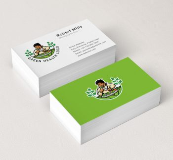 592-Green-Health-Business-Card-Mockup