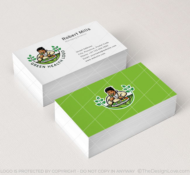 592-Green-Health-Business-Card-Mockup