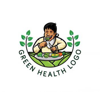 Green Health Logo & Business Card Template