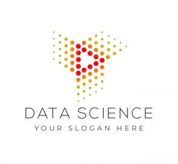 Futuristic Data Science Logo & Business Card