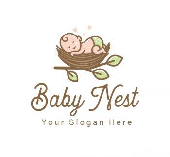 Sleeping Baby Logo & Business Card