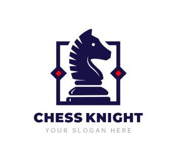 Chess Knight Logo & Business Card
