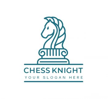 Simple Chess Knight Logo & Business Card