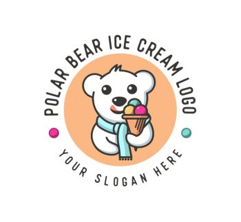 Polar Bear Ice Cream Logo & Business Card
